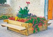Jardinière banc bois - Dimensions ( L x l x H ) m : 2.74 x 2 x 0.76