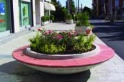 Jardinière banc ronde - Résistance à la pollution urbaine et à l'humidité