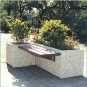 Jardinière banc urbain béton - Modèle assise simple