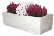 Jardinière béton - Construction béton blanc.