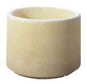 Jardinière béton cylindrique - Dimensions (Ø x H) : 90 x 52 cm