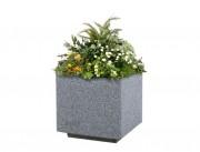 Jardinière béton préfabriqué kube - Dimensions : 500 x 500 x 580 - 500 x 500 x 980 mm