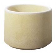 Jardinière béton ronde - Dimensions (Ø x H) : 90 x 37 cm - Capacité : 100 L
