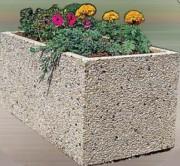 Jardinière béton roulés n°2 - Construction béton gravillon roulé type 2.