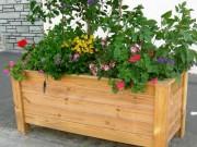 Jardinière bois à poser - Lames (mm) : 36 - 68