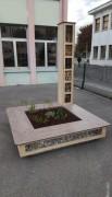 Jardinière bois avec banc - Sur-mesure