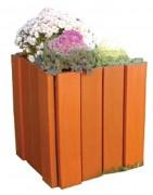 Jardinière bois carrée - Capacité : 100 Litres