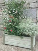 Jardinière bois clin rectangulaire