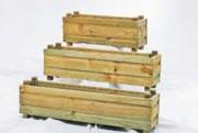 Jardinière bois rectangulaire - Fabriquée en pin traité autoclave.
