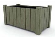 Jardinière bois rectangulaire en robinier - Dimensions : de 49 x 93,5 H 50 à 78,5 x 151,5 H 60 cm