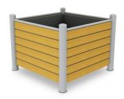 Jardinière carrée - Dimensions (Lxhxl)mm :1200 x 1200 x 920