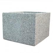 Jardinière carrée à fleur en béton - Dimensions : 100 x 100 x 50 cm