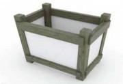 Jardinière carrée hauteur 100 cm - Forme carrée
