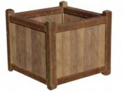 Jardinière carrée plastique recyclé - Capacité (L) : 88 - 145 - 300