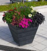 Jardinière conique en plastique recyclé - Base : 40, 50, 60 ou 72 Cm