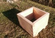 Jardinière d'extérieur carrée bois - Dimensions extérieur (L x l x H) mm : 600 x 600 x 480