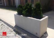 Jardinière d'extérieur en béton - Hauteur : 500 mm   -  Largeur : 450 mm