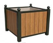 Jardinière d'extérieur panneau compact - Dimensions (L x l x h)  cm : 98 x 98 x 70