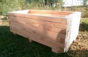 Jardinière d'extérieur rectangulaire en bois - Dimensions extérieur (L x l x H) mm : 1200 x 600 x 480