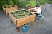 Jardinière d'extérieur sur pilotis - Dimensions (Lxlxh) : 1 200 x 600 - 1 200 x 800 mm