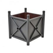 Jardinière en acier à pieds réglables - 2 Dimensions extérieures (L x l x H) mm: 800 x 800 x 750 – 1000 x 500 x 750