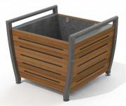Jardinière en acier et compact - Dimensions : 887x800x750 mm - Livré en kit prêt à monter