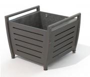 Jardinière en acier galvanisé - Montant tube d'acier 50x30 mm -  Traverse : Ø 42.4 mm