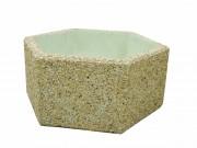 Jardinière en béton hexagonale - Dimensions (L x l x h) : Jusqu'à 150 x 130  x 55 cm - Poids : Jusqu'à 950