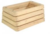 Jardinière en bois à sceller - Dimensions : 100 x 68 H 48 cm - Pin traité classe IV ou robinier