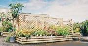 Jardinière en bois rondins - Largeur : 1 - 2 m