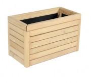 Jardinière en bois urbaine - En pin traité classe IV / robinier  - Forme : rectangulaire