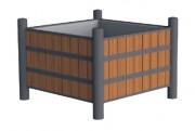 Jardinière en compact - Dimensions : L1000 x P1000 x H740