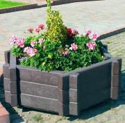 Jardinière en plastique hexagonale - En plastique 100% recyclé