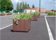 Jardinière en plastique recyclé hauteur 54 à 69 cm - Hauteurs (cm) : 54 - 69
