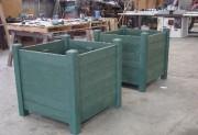 Jardinière en plastique recyclé hauteur 57cm à 99cm - Hauteur (cm) : de 57 à 99