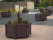 Jardinière en plastique recyclé pour environnement - Sans entretien, très solide, imputrescible et résistant au vandalisme