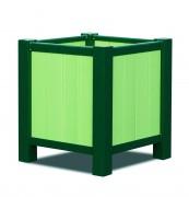 Jardinière extérieure carrée - Dimensions extérieurs (L x l x h) cm : de 51 x 51 x 60 à 86 x 86 x 90