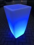 Jardinière lumineuse en HDPE naturel - Bac lumineux hauteur 850 mm