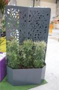 Jardinière métallique sur mesure - Finition : brute ou bien peinte