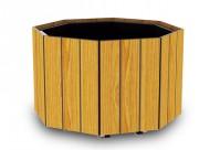 Jardinière octogonale stratifiée - Dimensions (Lxlxh) mm : 1050 x 1050 x 420