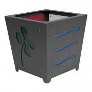Jardinière personnalisable en acier - Dimension (LxH) mm : 500 x 498