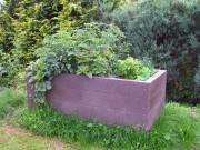 Jardinière potager plastique recyclé 190 cm L x 60 H - Dimensions : L x l x H : 190 x 90 x 60 cm