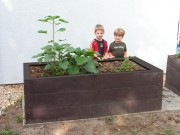 Jardinière potager plastique recyclé 190 cm L x 80 H - Dimensions : L x l x H : 190 x 90 x 80 cm