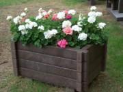 Jardinière pour espace public - 100 % en plastique recyclé