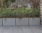 Jardinière rectangulaire en béton fibré - bac 100x40xh60 léger - ou sur mesure