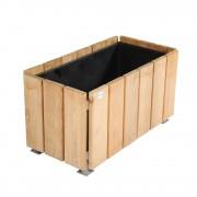 Jardinière rectangulaire en bois de pin - En pin traité classe IV / robinier  - Forme : rectangulaire