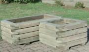 Jardinière rectangulaire en bois pin traité