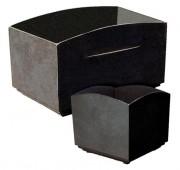 Jardinière rectangulaire en fonte moulée - Dimensions : Long 880 x larg 583 x haut 553 mm