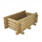 Jardinière rectangulaire en rondin de bois - Forme : Rectangulaire