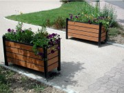 Jardinière rectangulaire sur pieds - Jardinière en compact - 65 L - Lxlxh: 1020 x 425 x 570 mm